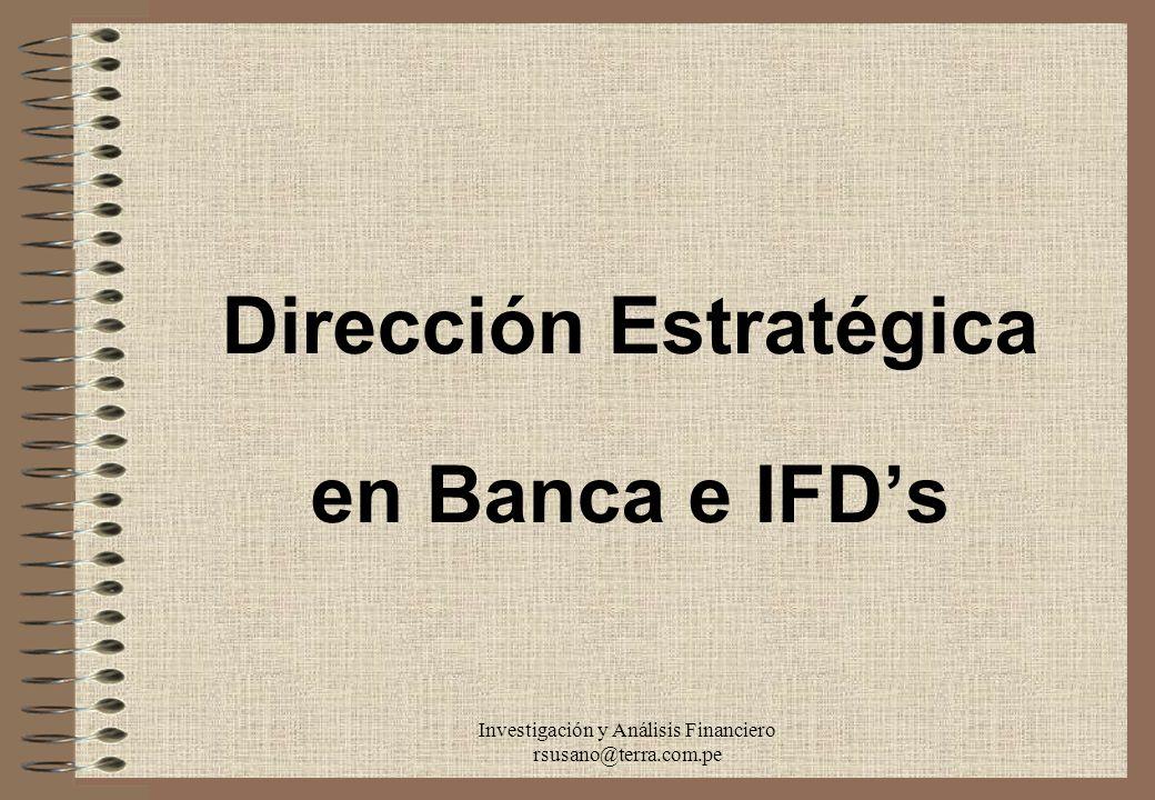 Dirección Estratégica en Banca e IFD's