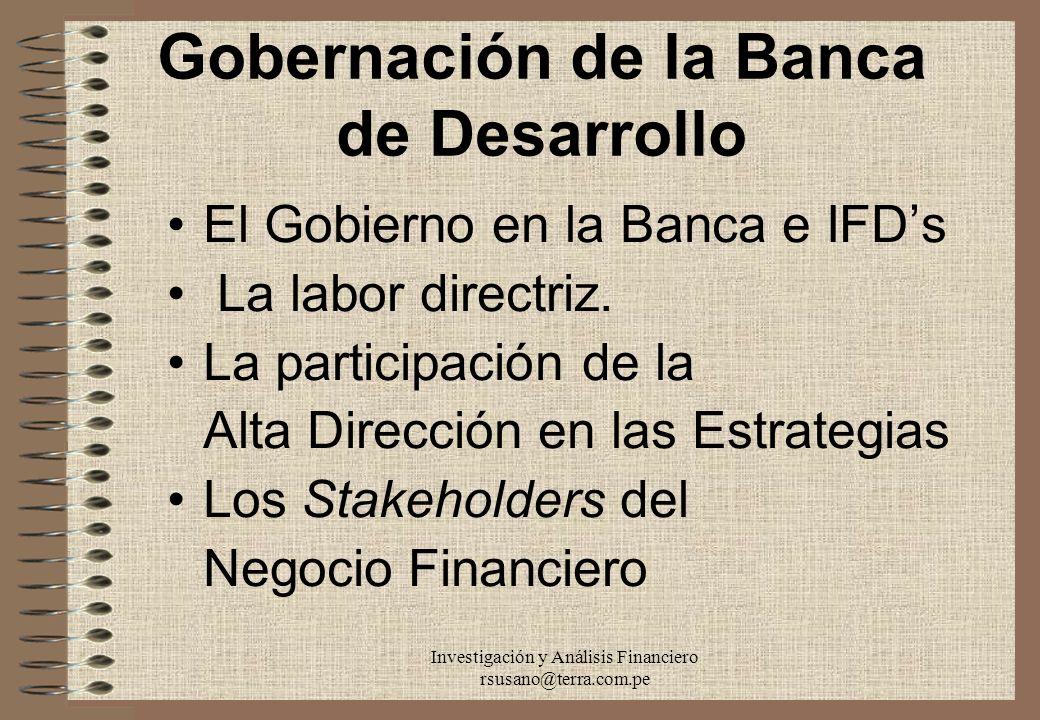 Gobernación de la Banca de Desarrollo