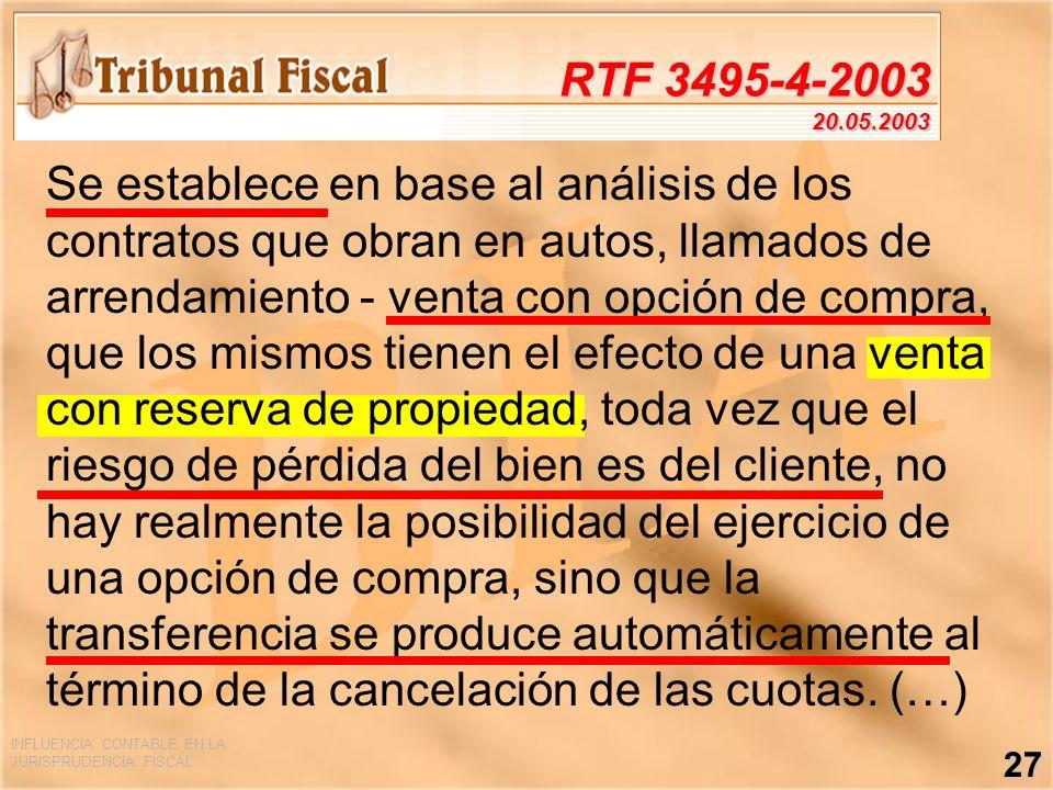 RTF 3495-4-2003 20.05.2003