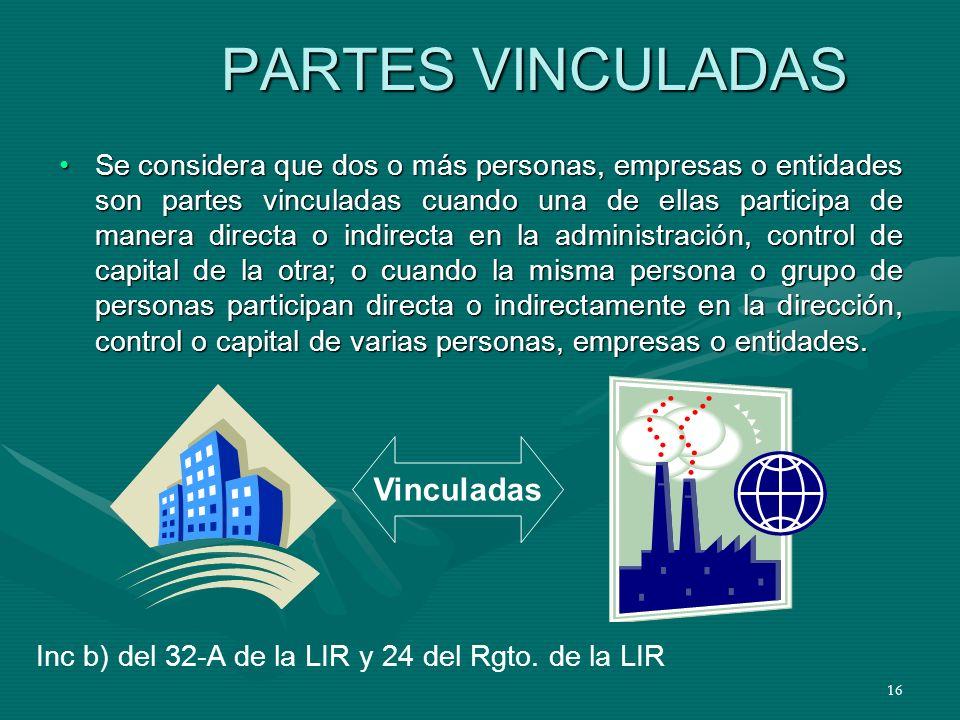 PARTES VINCULADAS Vinculadas