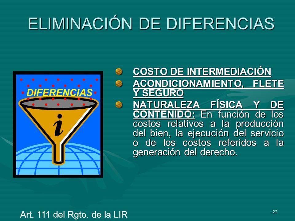 ELIMINACIÓN DE DIFERENCIAS