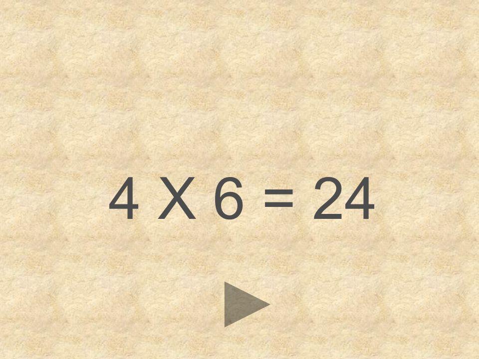 4 X 6 = 24