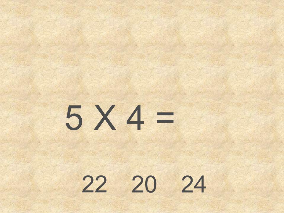 5 X 4 = 22 20 24
