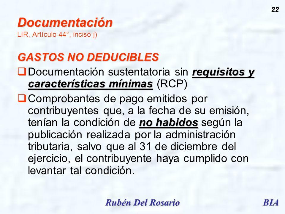 Documentación LIR, Artículo 44°, inciso j)