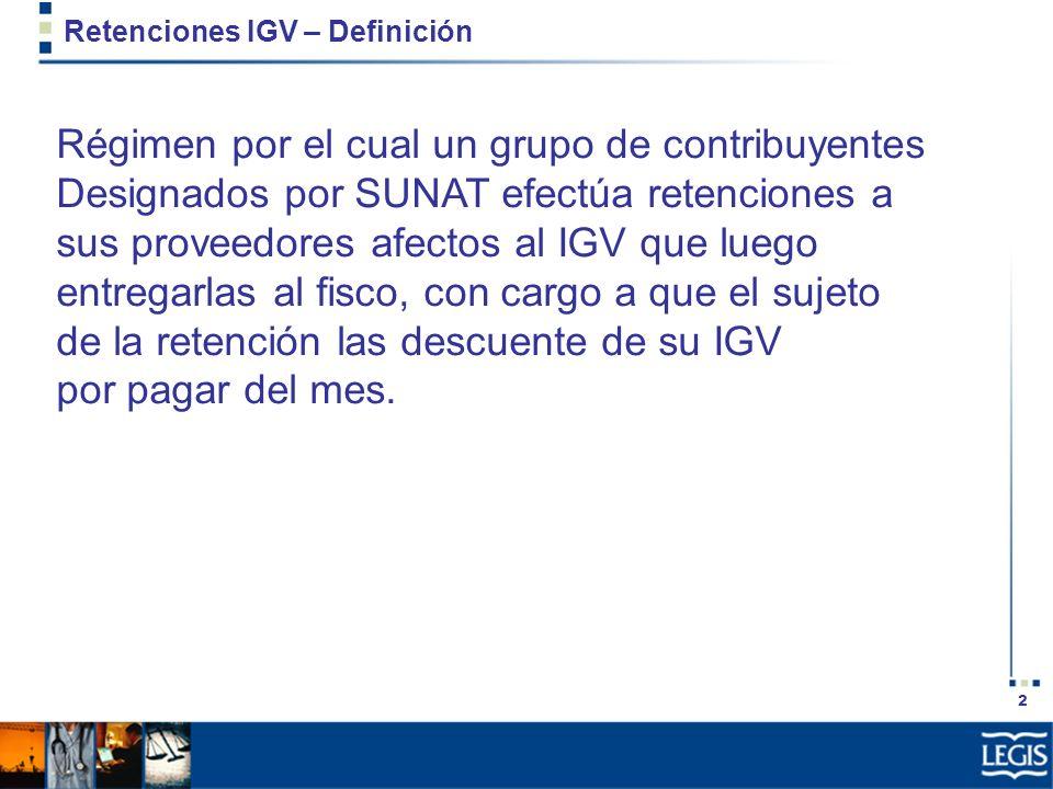 Retenciones IGV – Definición
