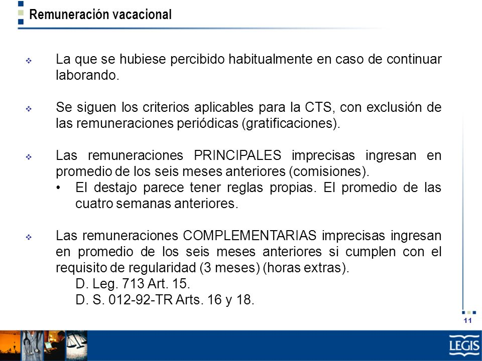 Remuneración vacacional