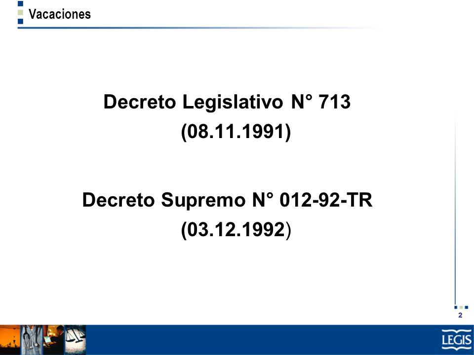 Decreto Legislativo N° 713 (08.11.1991)