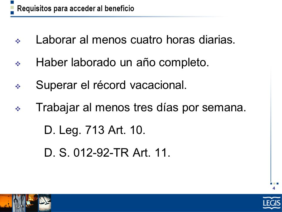 Requisitos para acceder al beneficio