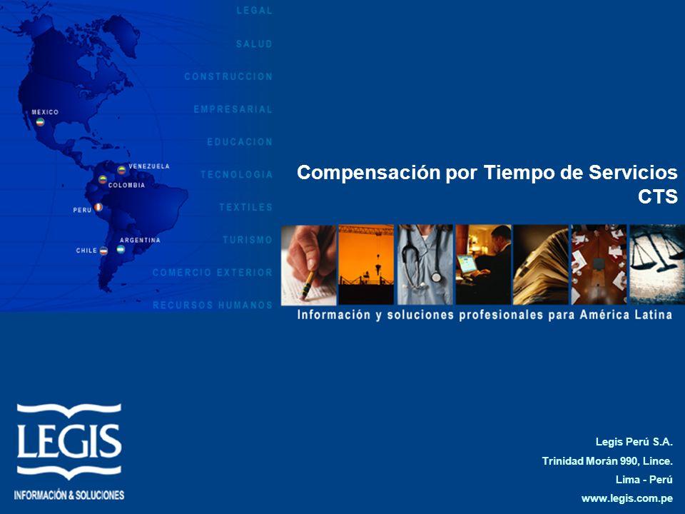 Compensación por Tiempo de Servicios CTS