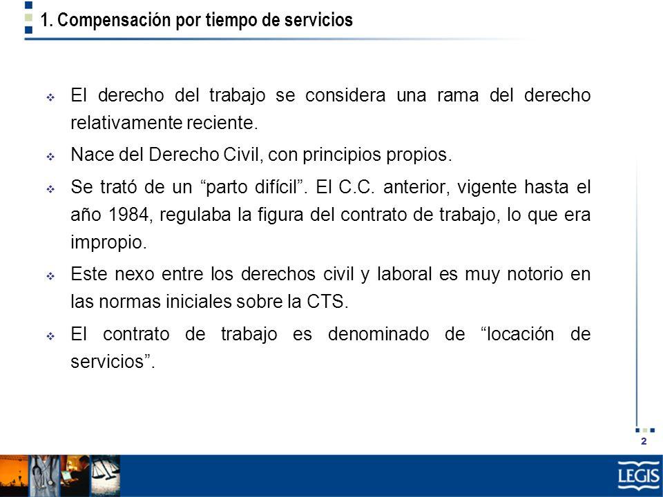 1. Compensación por tiempo de servicios