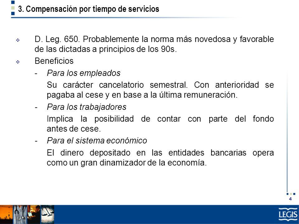3. Compensación por tiempo de servicios