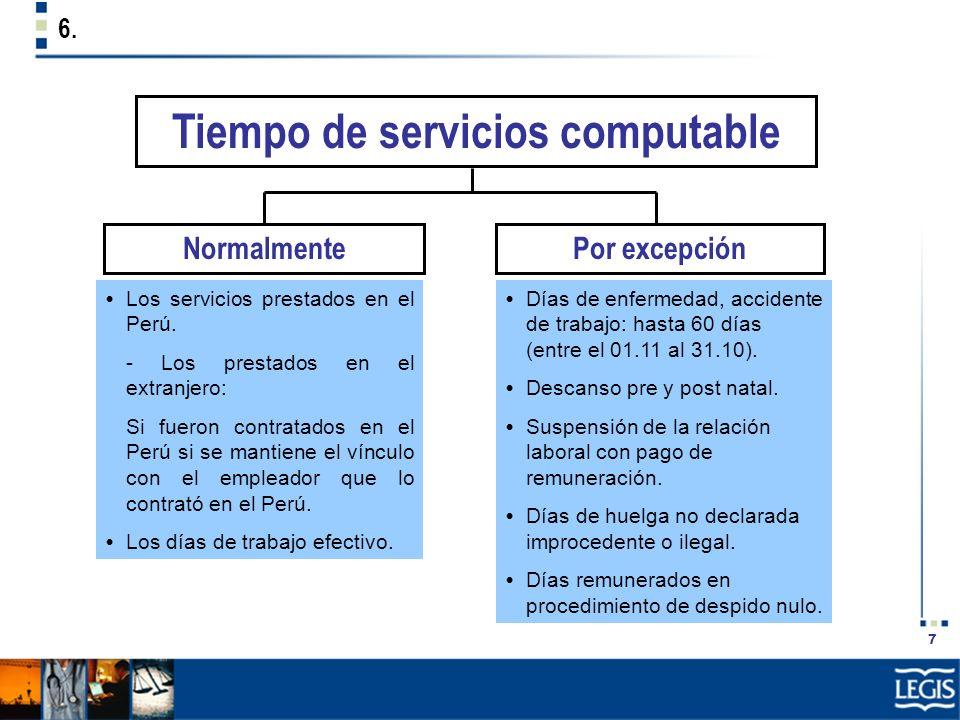 Tiempo de servicios computable