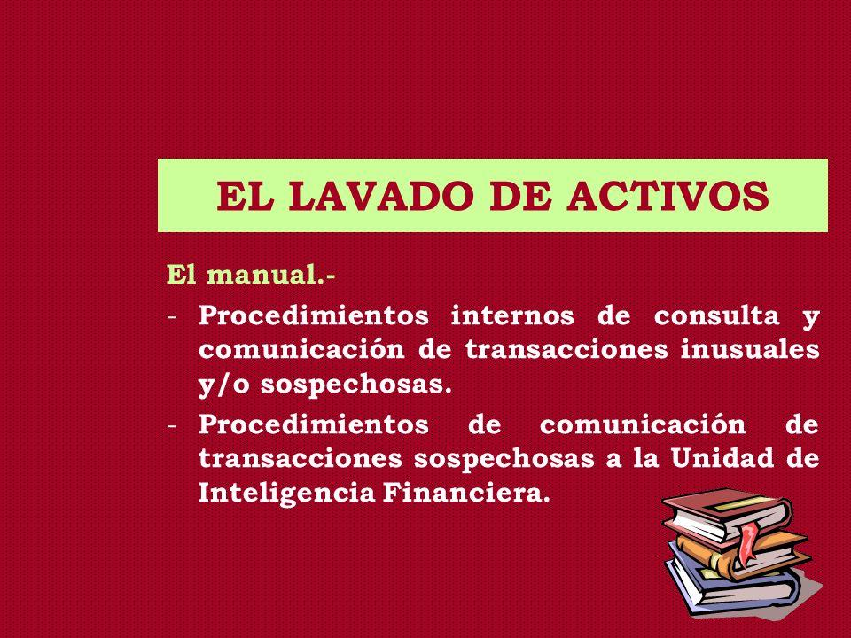 EL LAVADO DE ACTIVOS El manual.-