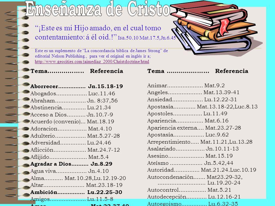 Enseñanza de Cristo
