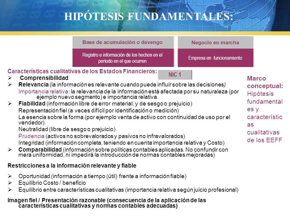 HIPÓTESIS FUNDAMENTALES: