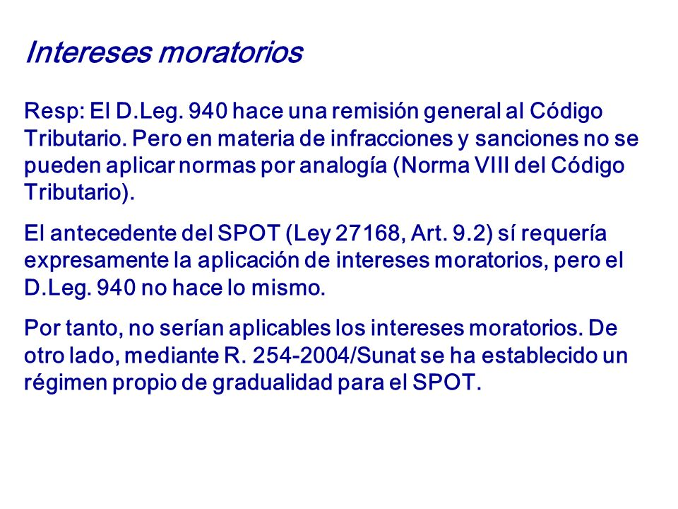 Intereses moratorios