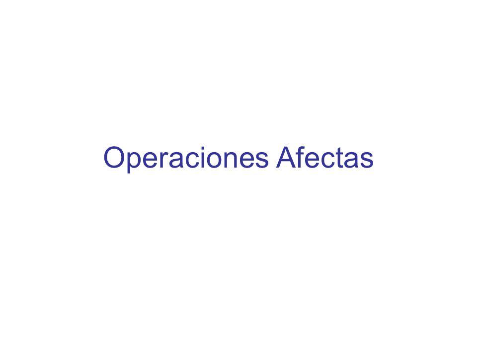 Operaciones Afectas