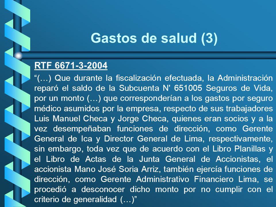 Gastos de salud (3) RTF 6671-3-2004