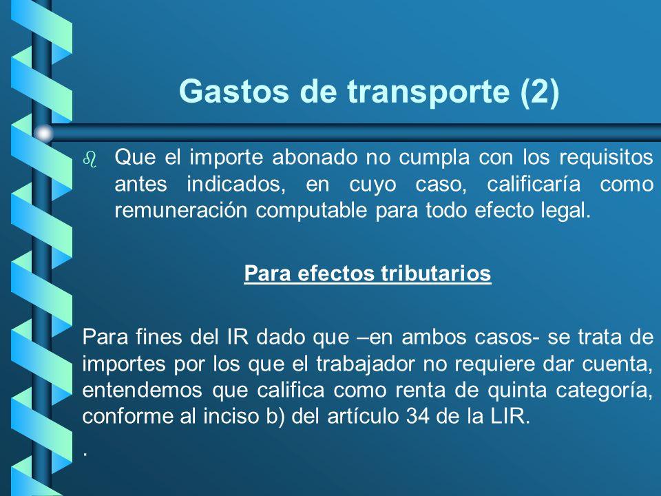 Gastos de transporte (2)