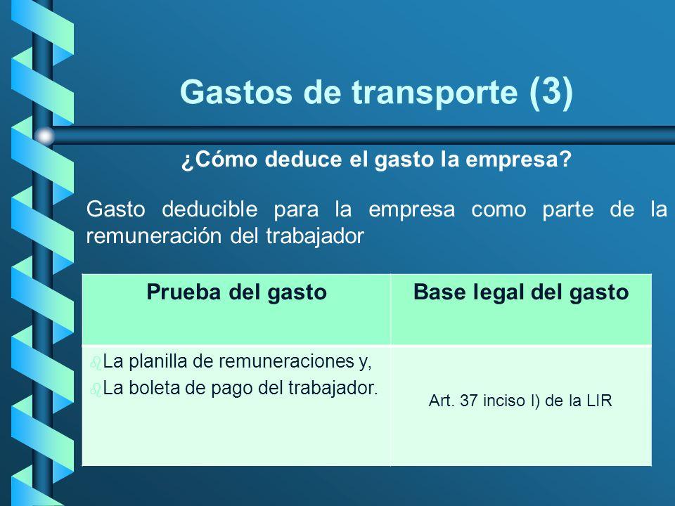 Gastos de transporte (3)