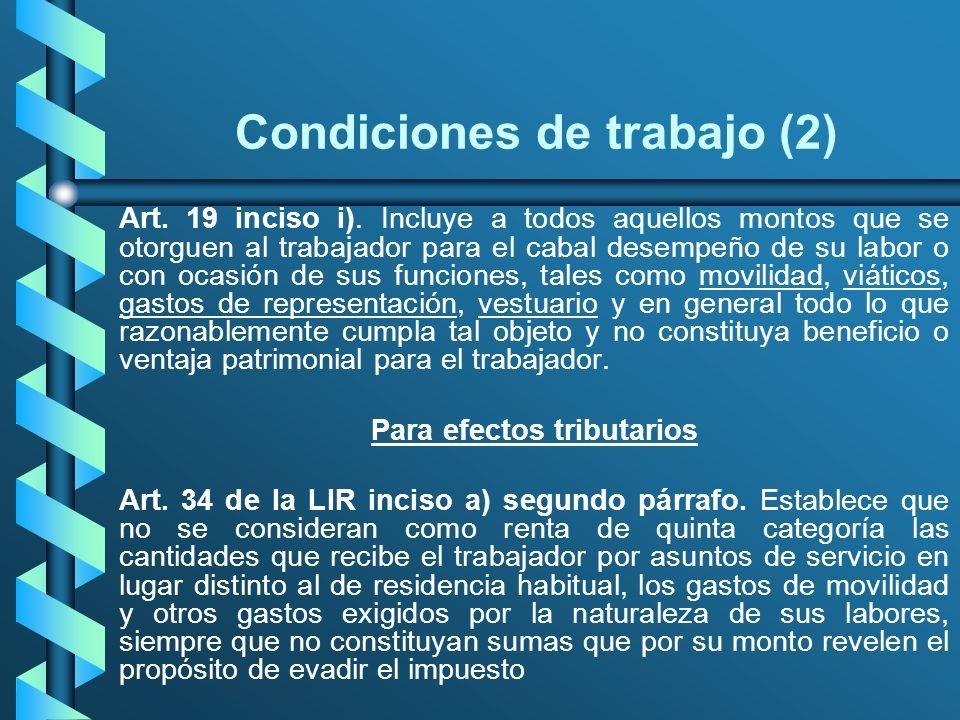 Condiciones de trabajo (2)