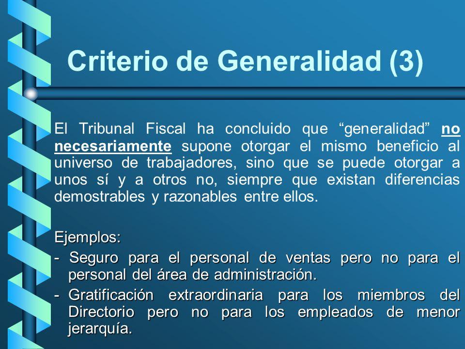 Criterio de Generalidad (3)