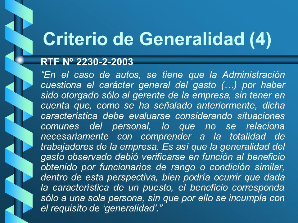 Criterio de Generalidad (4)