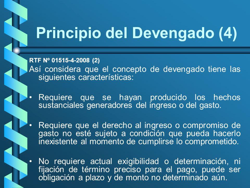 Principio del Devengado (4)