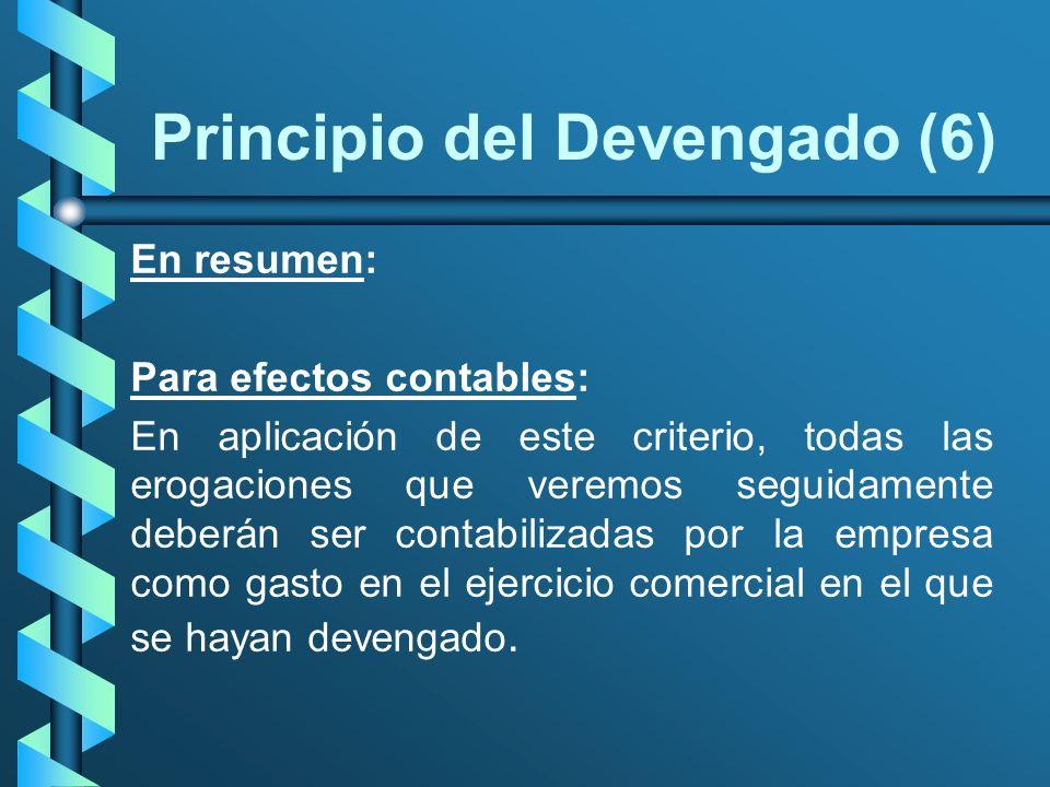 Principio del Devengado (6)
