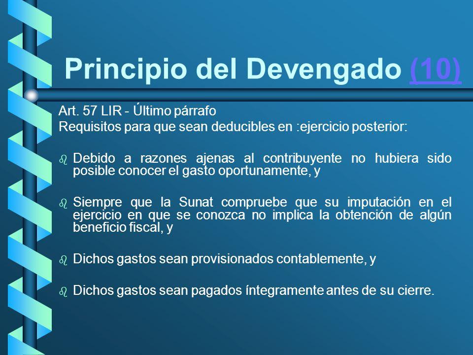 Principio del Devengado (10)