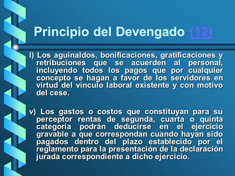 Principio del Devengado (12)