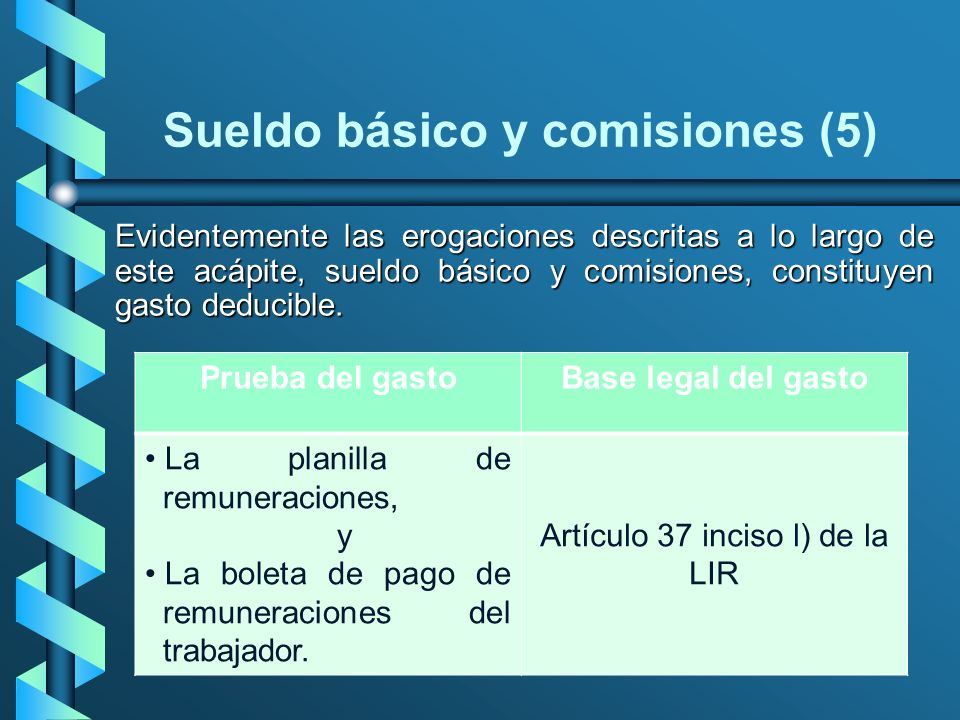 Sueldo básico y comisiones (5)