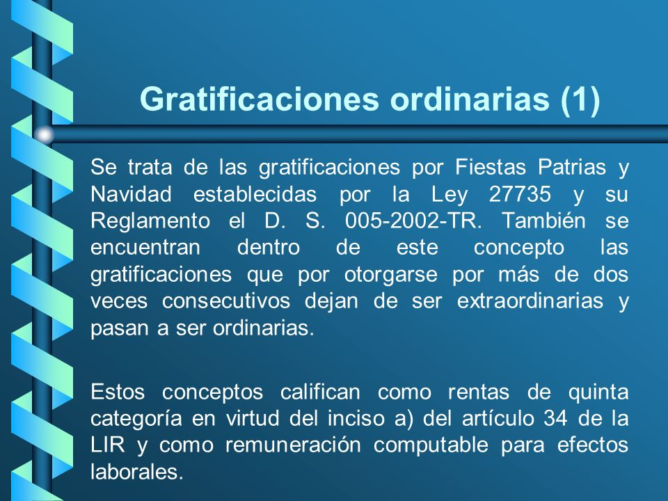 Gratificaciones ordinarias (1)