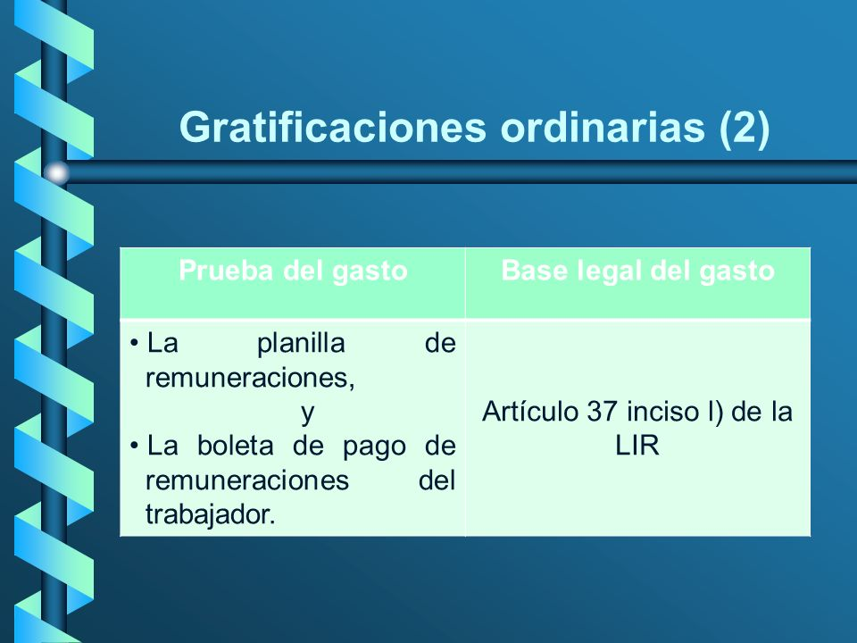 Gratificaciones ordinarias (2)