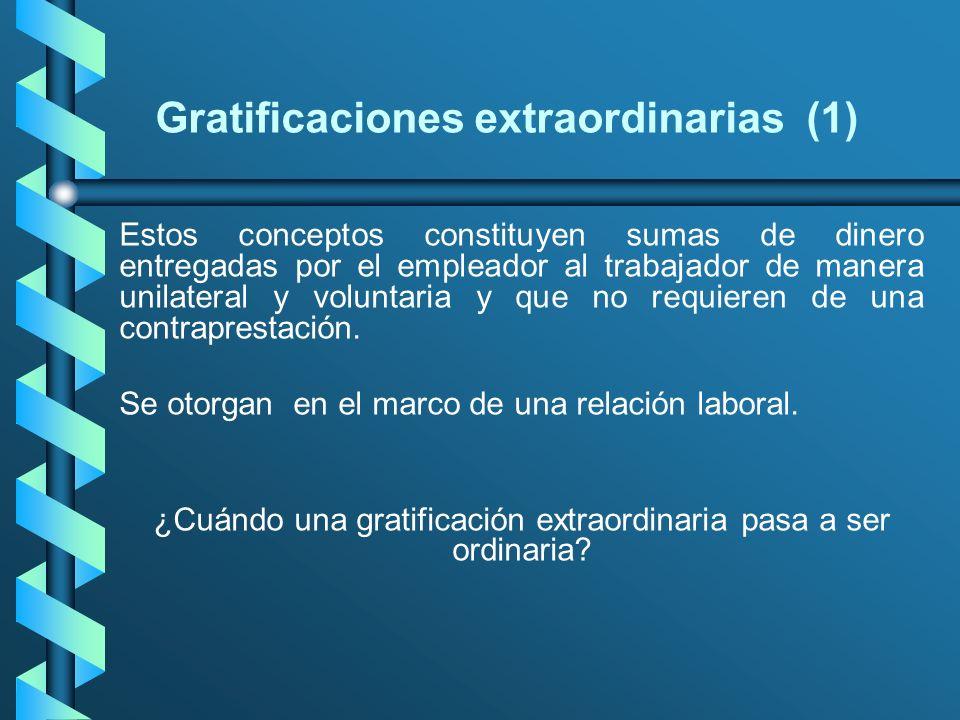 Gratificaciones extraordinarias (1)