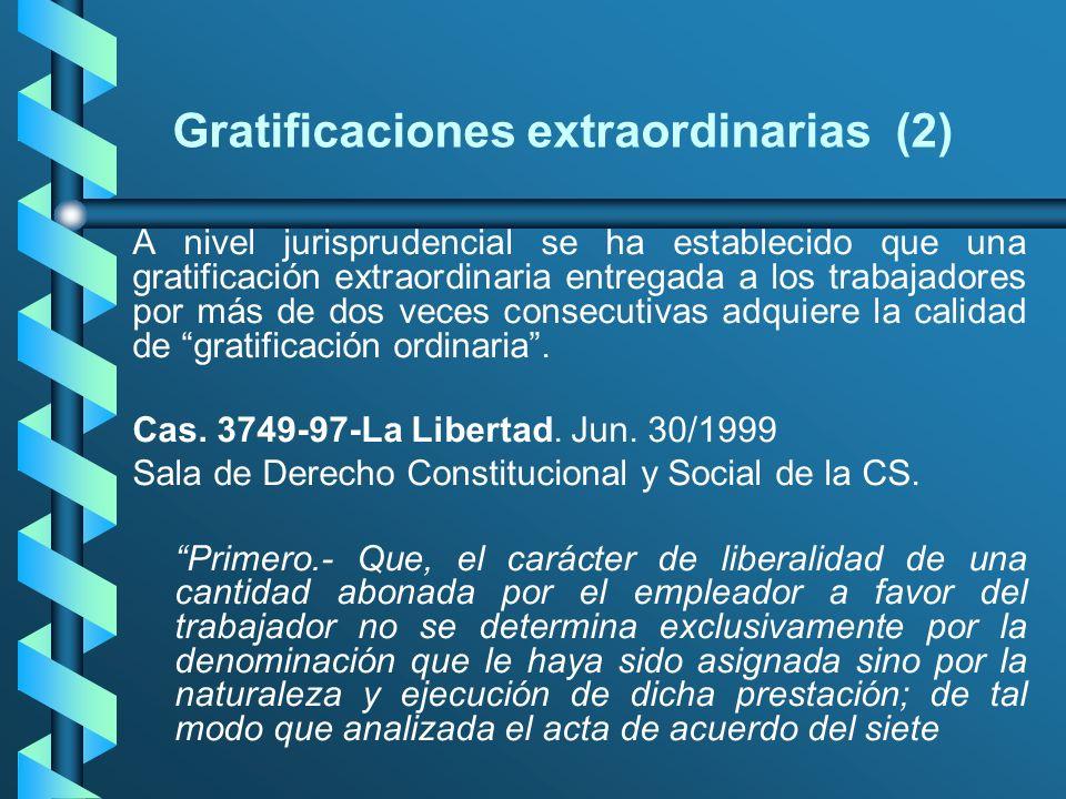Gratificaciones extraordinarias (2)
