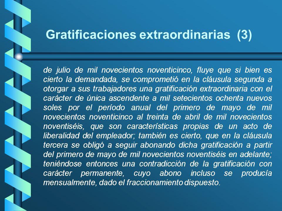 Gratificaciones extraordinarias (3)