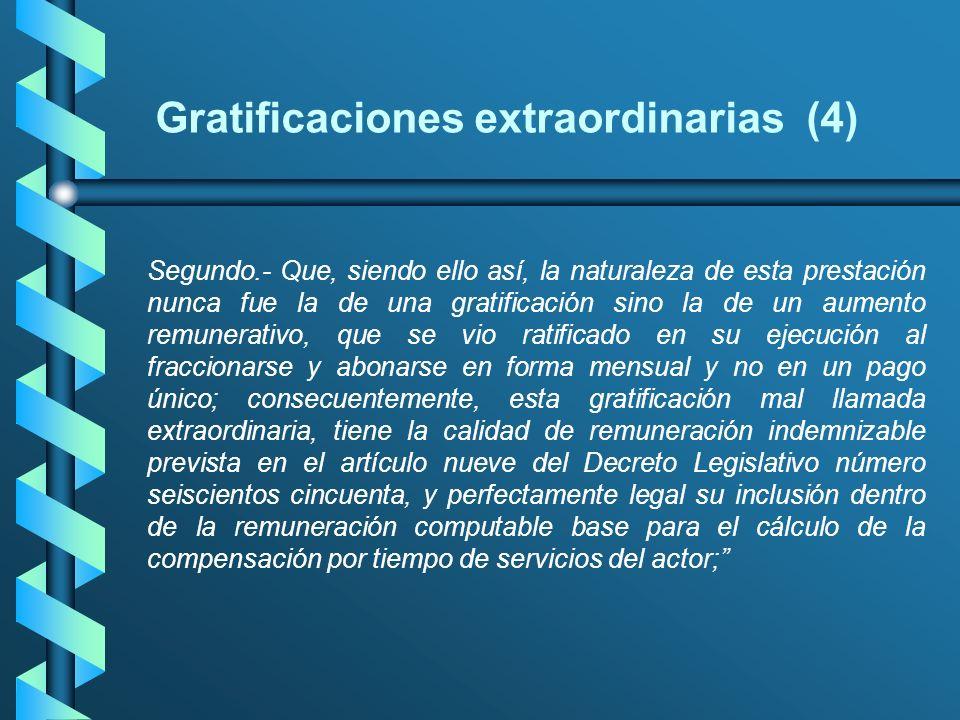 Gratificaciones extraordinarias (4)