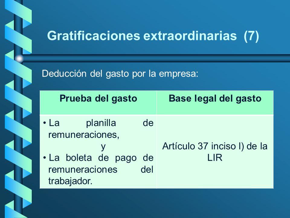 Gratificaciones extraordinarias (7)