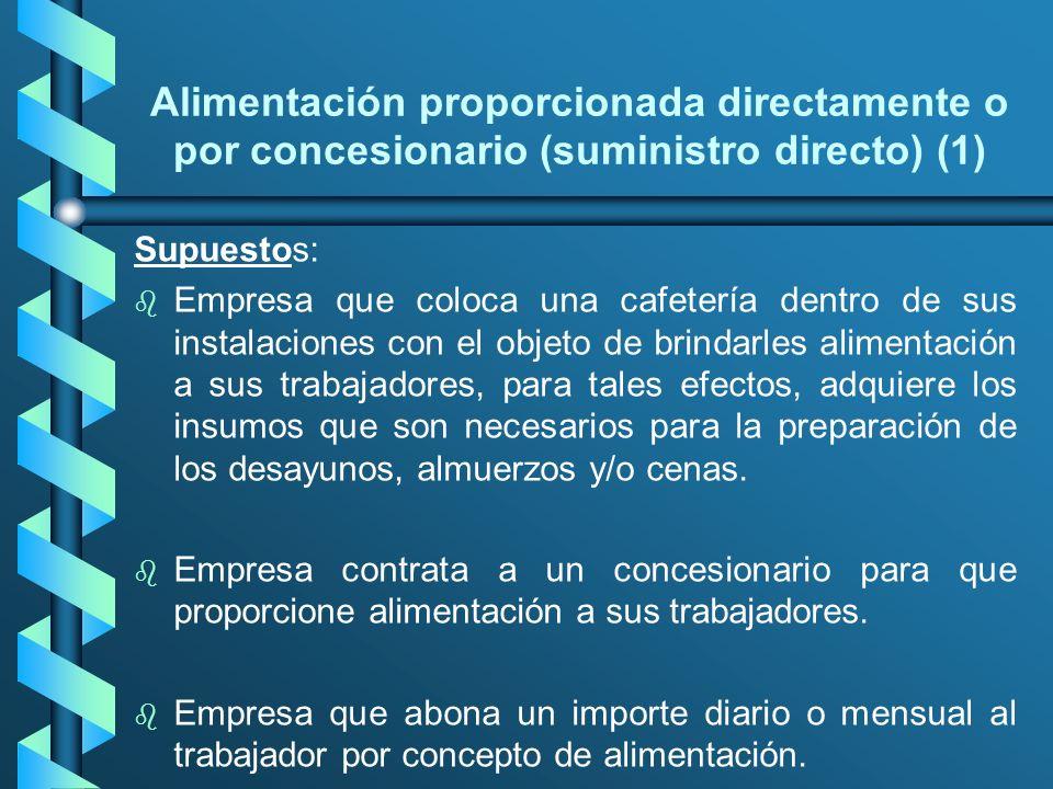 Alimentación proporcionada directamente o por concesionario (suministro directo) (1)