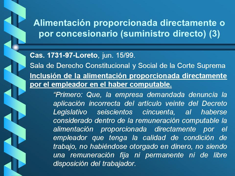 Alimentación proporcionada directamente o por concesionario (suministro directo) (3)
