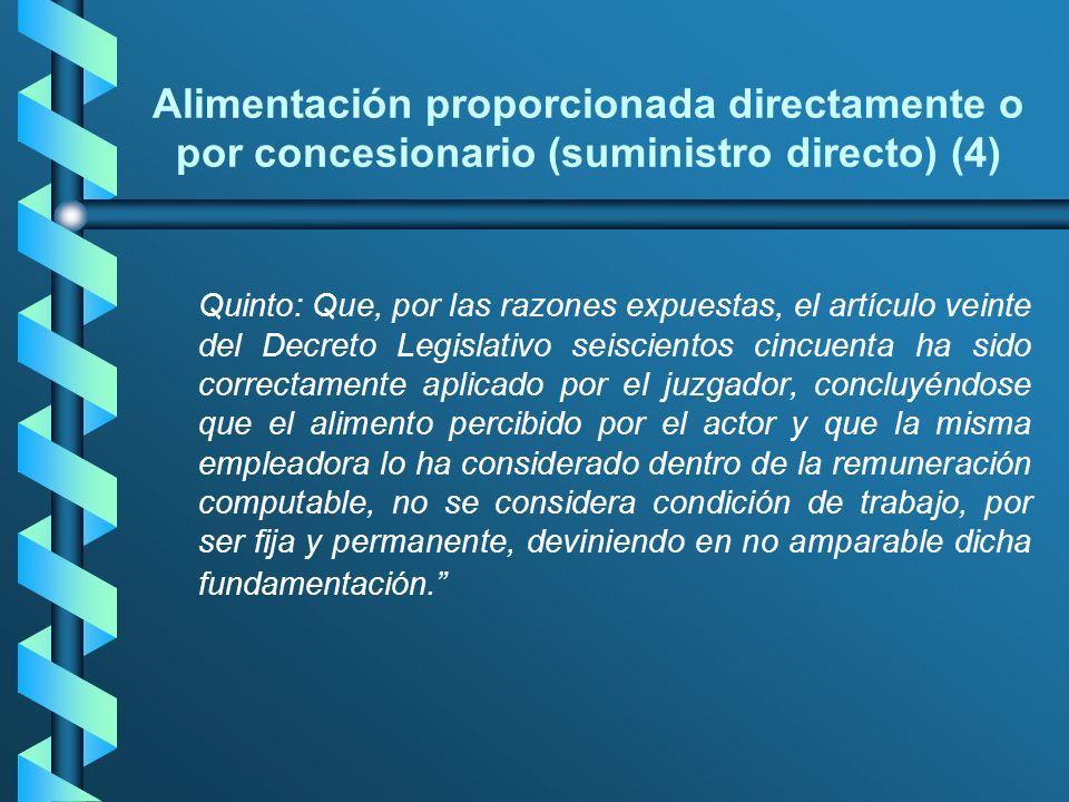Alimentación proporcionada directamente o por concesionario (suministro directo) (4)