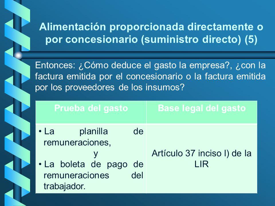 Artículo 37 inciso l) de la LIR