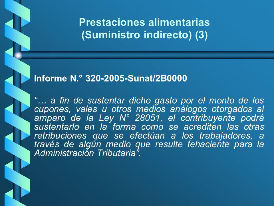Prestaciones alimentarias (Suministro indirecto) (3)