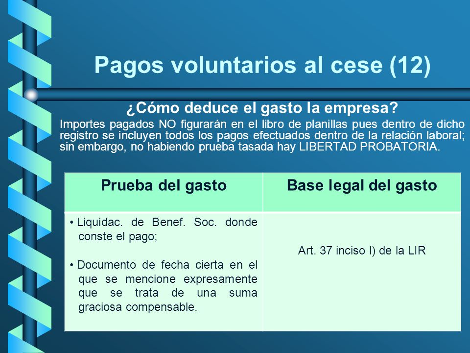 Pagos voluntarios al cese (12)