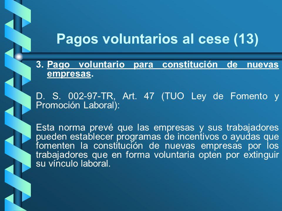 Pagos voluntarios al cese (13)