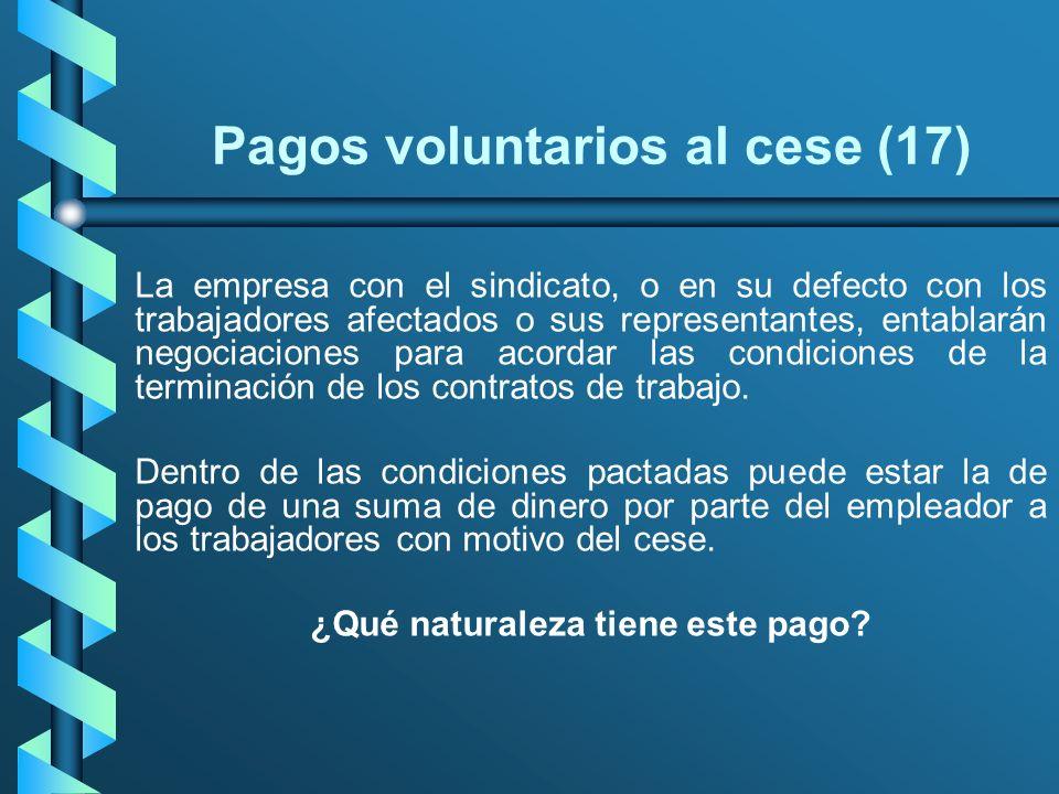 Pagos voluntarios al cese (17)