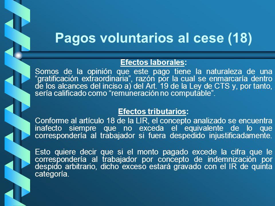 Pagos voluntarios al cese (18)