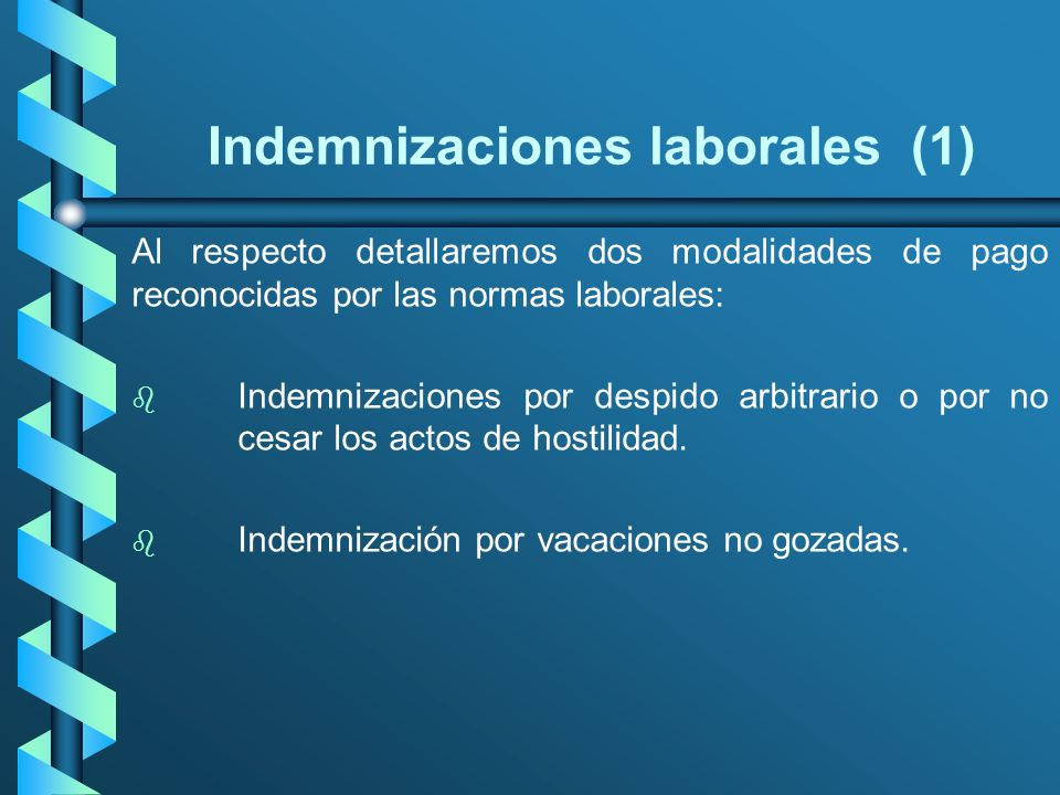 Indemnizaciones laborales (1)