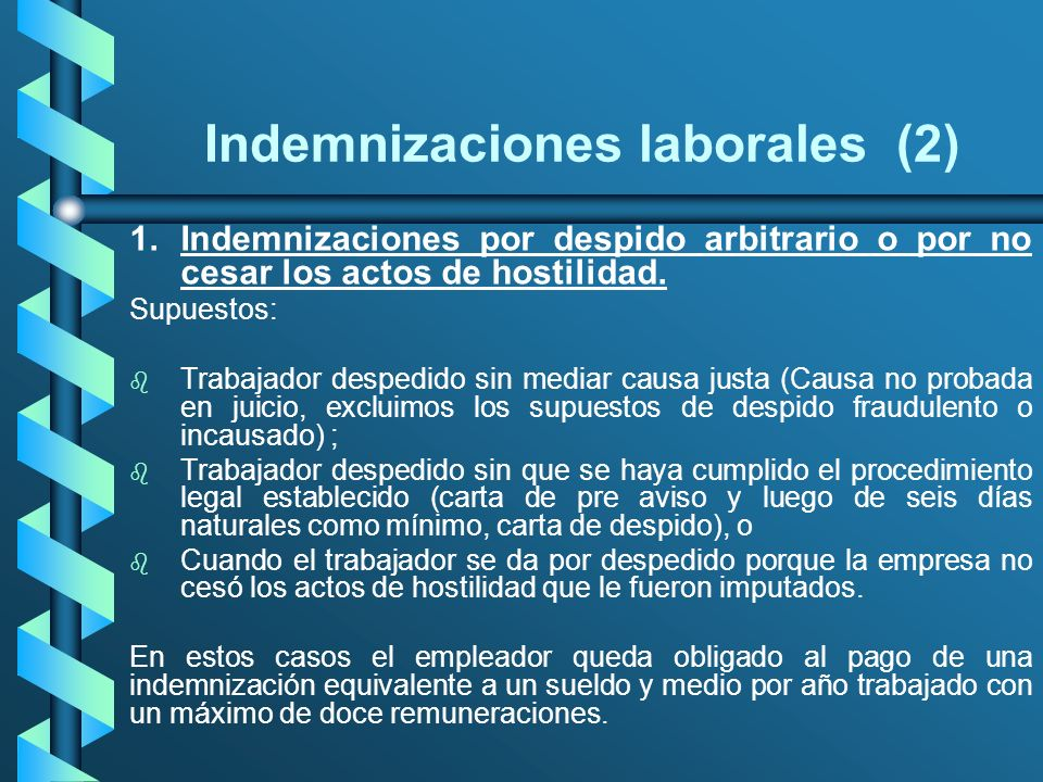 Indemnizaciones laborales (2)